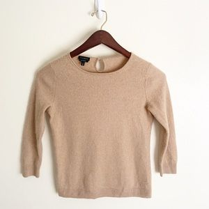 Talbots Camel Tan 100% Cashmere Fitted Sweater